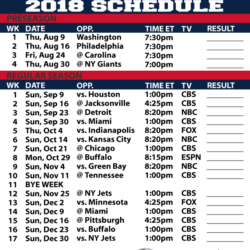 patriots game schedule